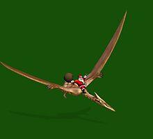 Santa Flying On Quetzalcoatlus by Mythos57