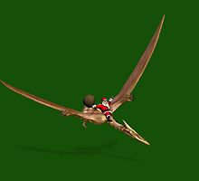 Santa Flying On Quetzalcoatlus by Mythos57