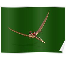 Santa Flying On Quetzalcoatlus Poster