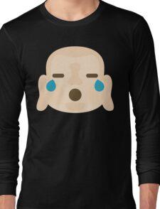 Buddha Emoji Teary Eyes and Sad Look Long Sleeve T-Shirt