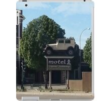 Al Capone's car at the Motel where he stayed during prohibition - Moose Jaw Saskatchewan- PILLOW AND TOTE BAG...ECT.. iPad Case/Skin