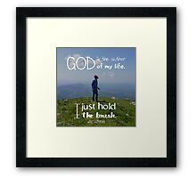 I just hold the brush Framed Print