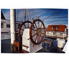 Ship steering wheel, Gorch Fock Poster