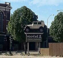Al Capone's car at the Motel where he stayed during prohibition - Moose Jaw Saskatchewan- PILLOW AND TOTE BAG...ECT.. by ✿✿ Bonita ✿✿ ђєℓℓσ