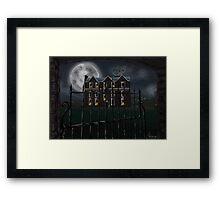 Boston Manor at Night Framed Print