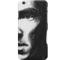 Benedict Cumberbatch - Scratch Board Portrait iPhone Case/Skin