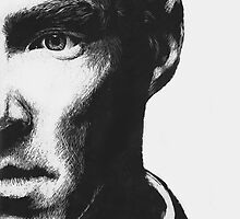 Benedict Cumberbatch - Scratch Board Portrait by sugarpoultry