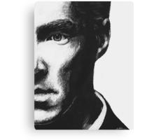 Benedict Cumberbatch - Scratch Board Portrait Canvas Print
