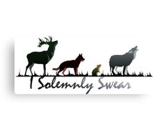 """I Solemnly Swear"" Colour Canvas Print"