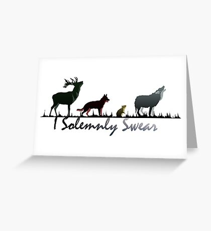 """I Solemnly Swear"" Colour Greeting Card"