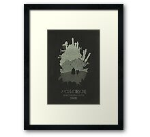 Howl's Moving Castle minimalist movie poster Framed Print