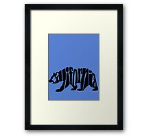 black california bear Framed Print