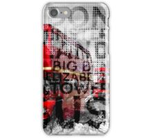 Graphic Art LONDON WESTMINSTER Buses | Typography iPhone Case/Skin