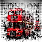 Graphic Art LONDON WESTMINSTER Buses   Typography by Melanie Viola