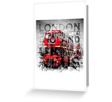 Graphic Art LONDON WESTMINSTER Buses | Typography Greeting Card