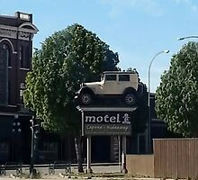 Al Capone's car at the Motel where he stayed during prohibition - Moose Jaw Saskatchewan-PICTURE AND OR CARD by ╰⊰✿ℒᵒᶹᵉ Bonita✿⊱╮ Lalonde✿⊱╮
