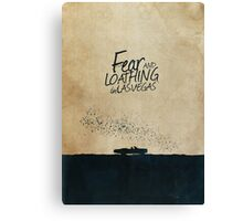Fear and Loathing in Las Vegas minimalist movie poster Canvas Print