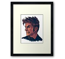 David Tennant - Sketchy Portrait 3 Framed Print