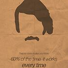 Brian Fantana minimalist poster by OurBrokenHouse