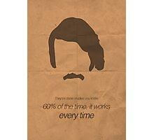 Brian Fantana minimalist poster Photographic Print
