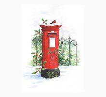 Red Post box in the snow Unisex T-Shirt