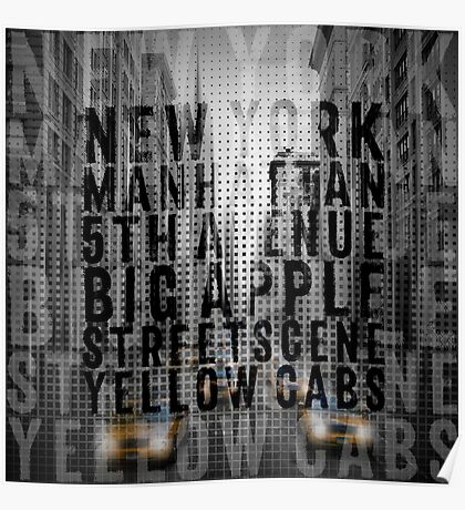 Graphic Art NYC 5th Avenue II | Typography Poster