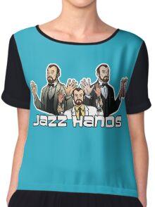 Jazz Hands Chiffon Top