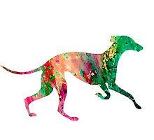 Greyhound 2 by Watercolorsart