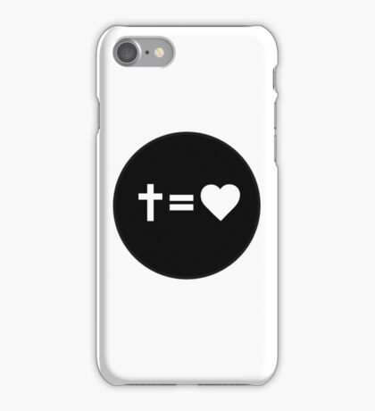 Cross Equals Heart iPhone Case/Skin