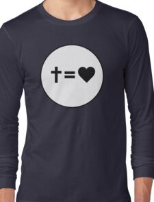 Cross Equals Heart Long Sleeve T-Shirt