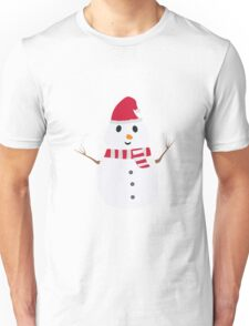 Chirstmas Snowman with winterscarf Unisex T-Shirt