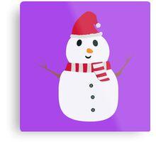 Chirstmas Snowman with winterscarf Metal Print