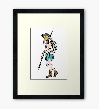 Classic warrior Framed Print