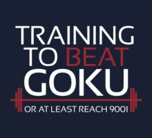 Training to beat Goku - 9001 - White Kids Clothes