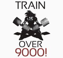 Train over 9000-BW Black Letters Kids Clothes