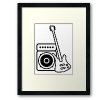 Bass guitar with amp Framed Print