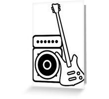 Bass guitar with amp Greeting Card