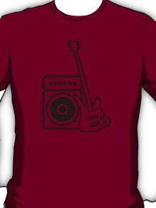 Bass guitar with amp T-Shirt