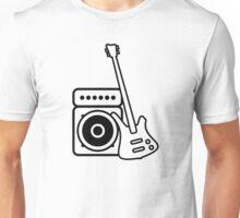 Bass guitar with amp Unisex T-Shirt