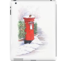 Red letter box in the snow iPad Case/Skin