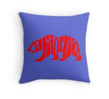 red california bear Throw Pillow