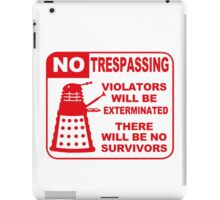 Signs of Danger! iPad Case/Skin