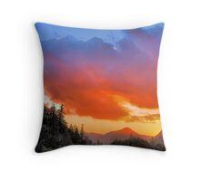 Stunning HDR Sunset Throw Pillow