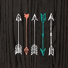 Hand-Drawn Arrows On Woodgrain by Brandt Campbell