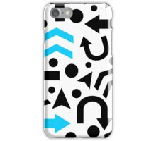 Cyan Right Direction pattern iPhone Case/Skin