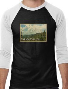 Catskills Vintage Travel T-shirt Men's Baseball ¾ T-Shirt