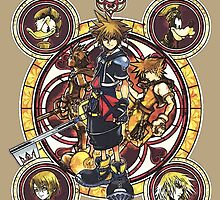 Sora and All Characters - Kingdom Hearts by Mellark90