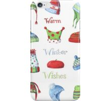 Warm winter hats iPhone Case/Skin