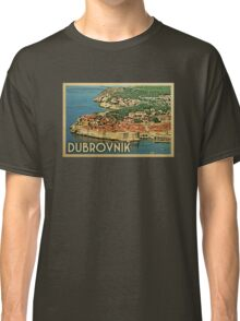 Dubrovnik Vintage Travel T-shirt Classic T-Shirt
