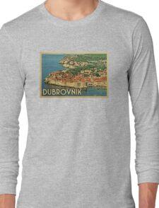 Dubrovnik Vintage Travel T-shirt Long Sleeve T-Shirt